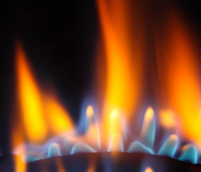 Flame of gas burner